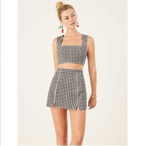 NWT Reformation Jeannie Two Piece Skirt Set 2 XS